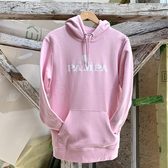 Hoodie cotton pink web